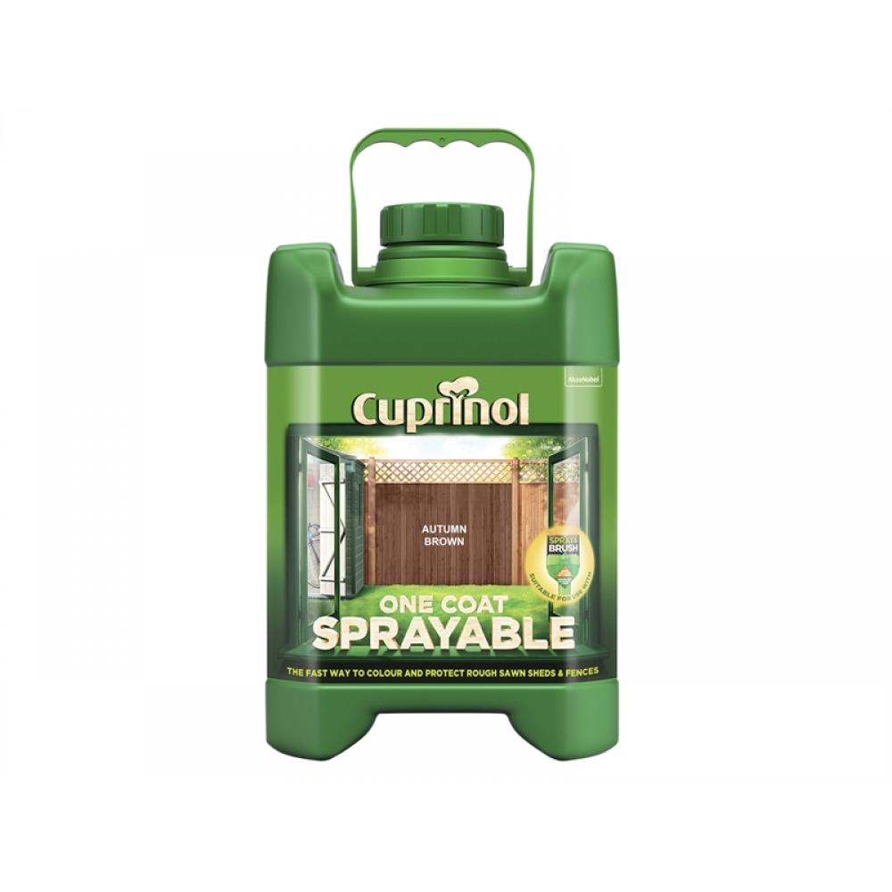 Cuprinol Spray Fence Treatment Autumn Brown 5 Litre