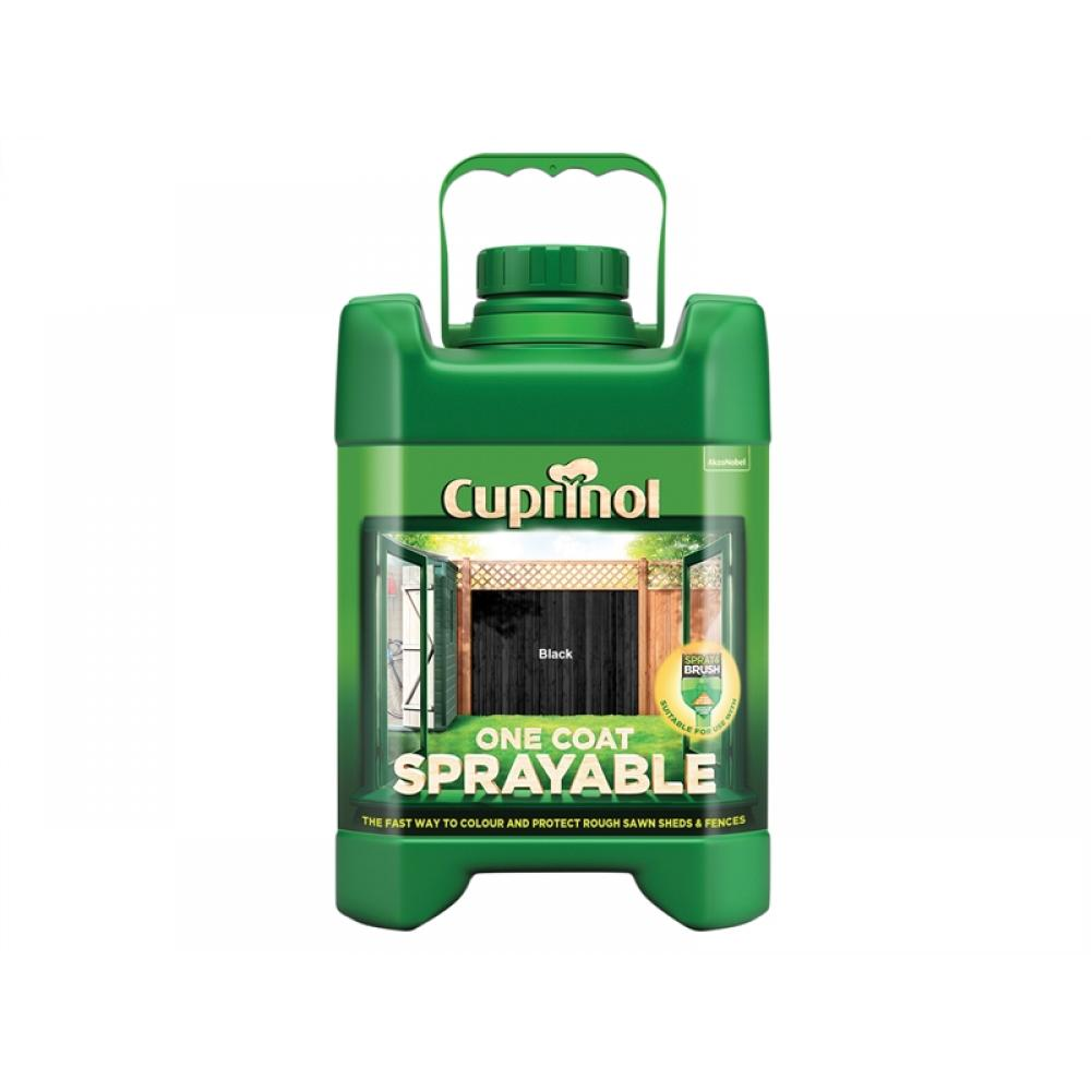 Cuprinol Spray Fence Treatment Black 5 Litre