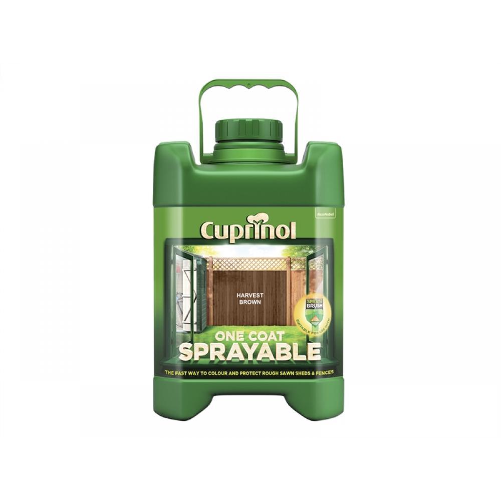 Cuprinol Spray Fence Treatment Harvest Brown 5 Litre