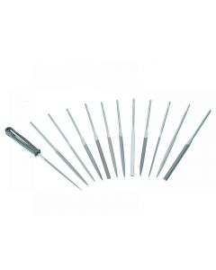 Bahco Needle Set of 12 Cut 2 Smooth 2-472-16-2-0 160mm (6.2in) 2-472-16-2-0
