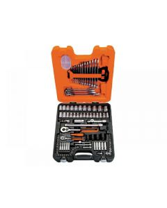 Bahco S108 Socket & Combination Spanner Set of 108 Metric 1/4in & 1/2in Drive S108