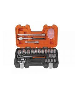 Bahco S240 Socket Set of 24 Metric 1/2in Drive S240