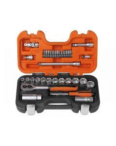 Bahco S330 Socket Set of 34 Metric 1/4in & 3/8in Drive S330