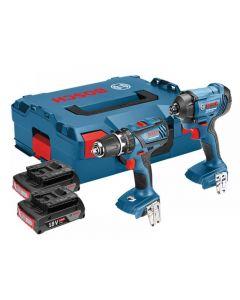 Bosch Cordless Twin Pack 18V 2 x 3.0Ah Li-Ion 0615990J8E