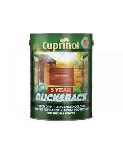 Cuprinol Ducksback 5 Year Waterproof for Sheds & Fences Range