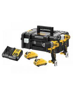 DeWalt DCK2110L2 XR Brushless Sub-Compact Twin Pack 12V 2 x 3.0Ah Li-ion DCK2110L2T-GB