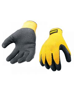 DeWalt DPG70L Yellow Knit Back Latex Gloves - Large DPG70L