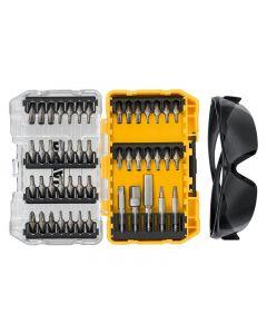 DeWalt DT70704 Screwdriving Set, 47 Piece + Safety Glasses DT70704-QZ