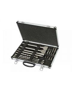 DeWalt DT9670 SDS Plus Drill & Chisel Set In Aluminium Case 15 Piece DT9670-QZ