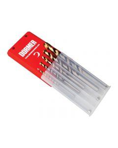 Dormer A08910 Set A002 HSS TiN Coated Jobber Drill Set of 5 4.0-10.0