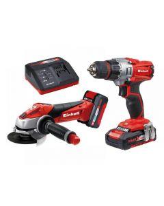 Einhell TE-TK 18 Li Drill & Grinder Kit 18V 1 x 1.5Ah & 1 x 3.0Ah Li-ion