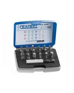 Expert 1/4in Bit Set 19 Piece + Bit Holder E113901