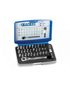 Expert 1/4in Bit Set 32 Piece + Accessories E131702