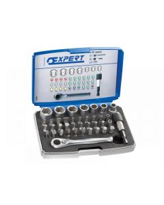 Expert 1/4in Bit Socket + Accessory Set 39 Piece E131705