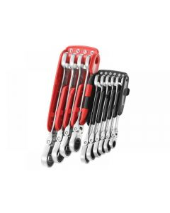 Facom 467BF.JP10PB Ratchet Combination Flexi Wrench Set, 10 Piece
