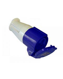 Faithfull Blue Socket 16 Amp 240 Volt