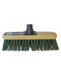 Faithfull Broom Head Stiff Green 300mm (12in) Threaded Socket