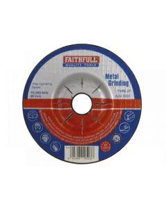Faithfull Depressed Centre Metal Grinding Disc Range