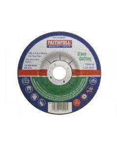 Faithfull Depressed Centre Stone Cutting Discs Range