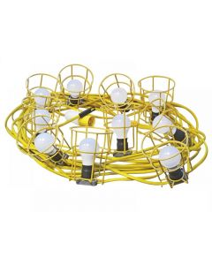 Faithfull Festoon Lights 10 ES Bulbs 110V 22m