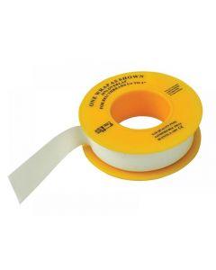 Faithfull P.T.F.E Gas Tape 12mm x 5m White (Pack 10) TAPEPTGAS