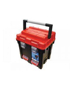 Faithfull Plastic Cube Toolbox - 2 Trays 44cm (17in) Deep
