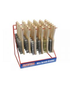 Faithfull Wire Brush Display Stand 36 Piece 680DEAL