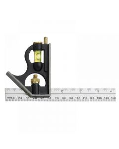 Fisher F411ME Combination Square with Stainless Steel Blade 150mm (6in)