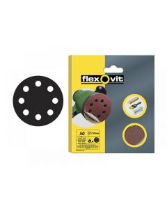 Flexovit Hook & Loop Sanding Discs 125mm Range