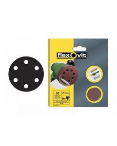 Flexovit Hook & Loop Sanding Discs 150mm Range