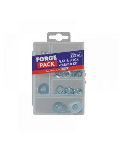ForgeFix Flat Washer Kit ForgePack 112 Piece