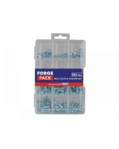 ForgeFix Hexagon Bolt Nut & Washer Kit Forge Pack 285 Piece