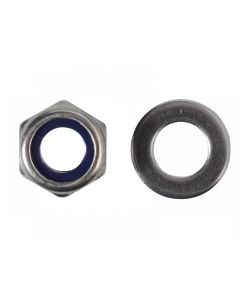 ForgeFix Hexagonal Nuts with Nylon Inserts, S/S Range