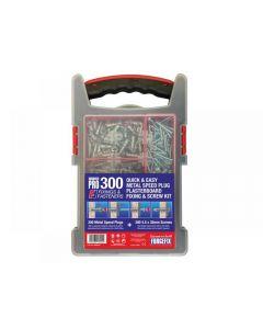 ForgeFix Speed Plug Zinc Plasterboard Fixing Kit 300 Piece