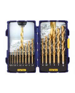 Irwin HSS TiN Pro Drill Set 15 Piece