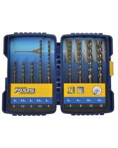Irwin Speedhammer Plus Drill Bit Set, 9 Piece Range