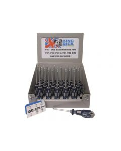 King Dick Tools 146 One for Six Screwdriver 100mm, Display of 36