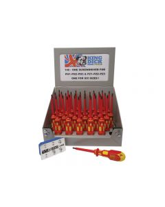 King Dick Tools 146 One for Six VDE Screwdriver 100mm, Display of 36