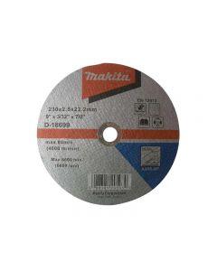 Makita D-18699 Metal Cutting Wheel 230 x 2.5 x 22.23mm