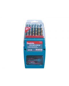 Makita P-57087 Titanium Coated Drill & Driver Set, 21 Piece
