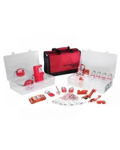Master Lock Lockout / Tagout Electrical Group 23-Piece Kit with 410RED Padlocks 1458E410