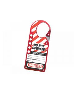 Master Lock Snap-on Hasp Lockout Labelled 427