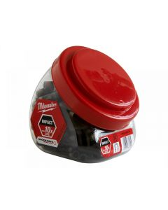Milwaukee Impact Rated Magnetic Bit Holder Jar 100 Pieces
