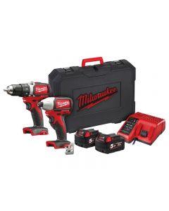 Milwaukee M18 BLPP2A2 Brushless Twin Pack 18V 2 x 5.0Ah Li-ion 4933464523