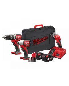 Milwaukee M18 BLPP2D-423C Brushless Twin Pack 18V 2 x 4.0Ah, 12V 1 x 2.0Ah 4933459759