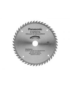 Panasonic EY9PW17A Carbide Tipped Universal Saw Blade for Wood 165mm x 20mm x 48T