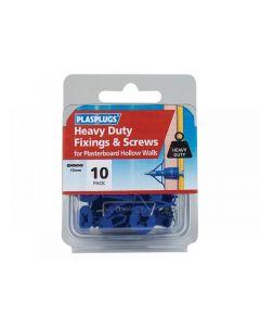 Plasplugs Heavy-Duty Fixings & Screws (Pack 10)
