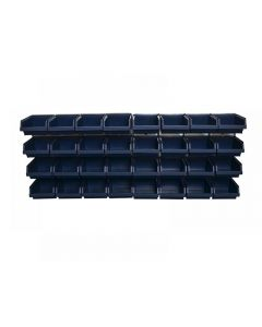 Raaco Bin Wall Panel with 32 Bins