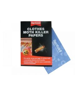 Rentokil Clothes Moth Papers Pack of 10