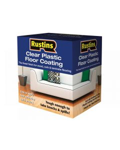 Rustins Clear Plastic Floor Coating Kit Range